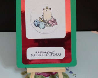 Square Christmas candle card