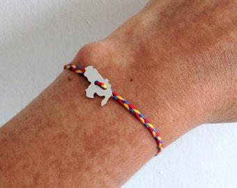Bracelet with Venezuela map