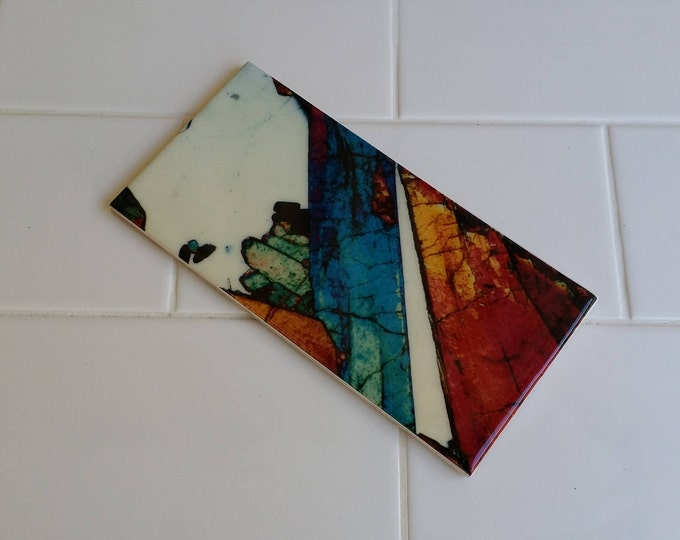 Bathroom Custom Feature Tiles - MineralPhotos - Art and Science - Mineral Art