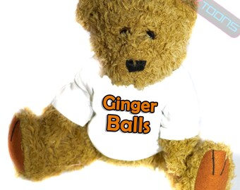 Ginger Hair Novelty Gift Teddy Bear