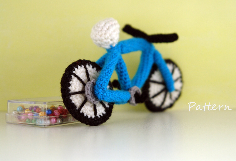 CROCHET toy PATTERN: amigurumi bike / amigurumi pattern for