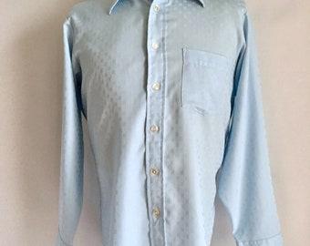 Vintage Men's 70's Disco Shirt, Long Sleeve, Button Down by Arrow (L)