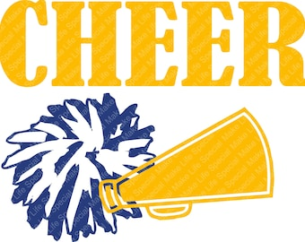 Cheer SVG DXF Cutting File