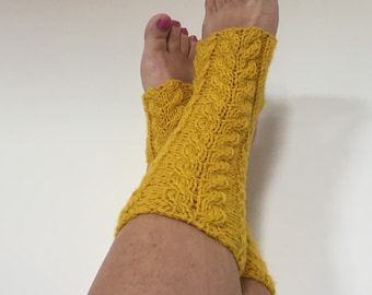 Knitted Leg Warmers Eco Wool Yoga Socks Dance Socks Gift For Women