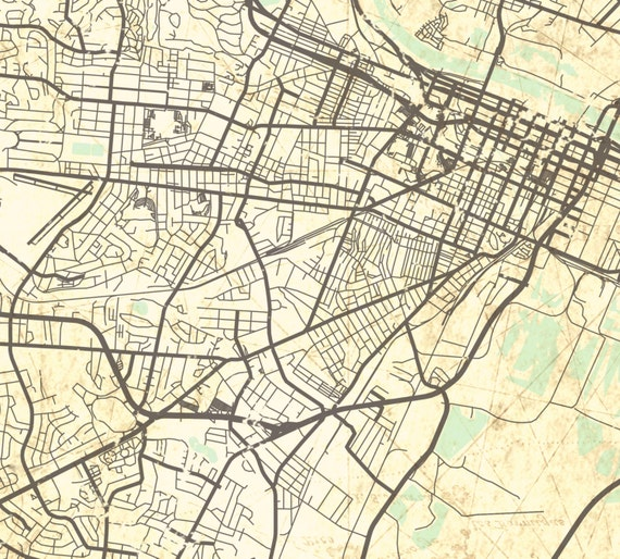 AUGUSTA GA Canvas Print Georgia Vintage map Augusta City Map