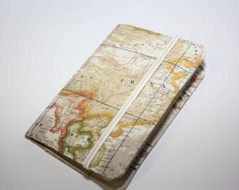 Brown paspoort pouch/World Map Passport Cover,Fabric Passport Case,Passport wallet,/Passport holder, passport cover,United States, Mexico