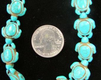 Howlite Turtle Beads!