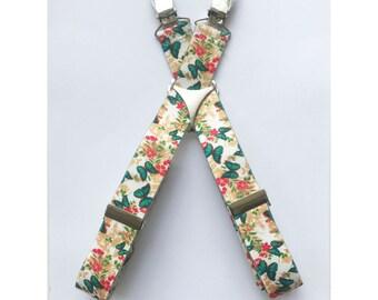 """Adjustable 1"""" Suspenders- Butterflies"""