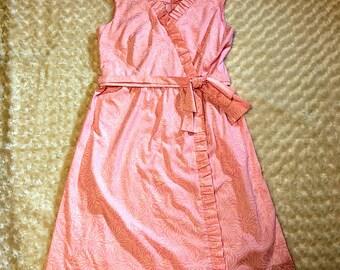 Vanda Fashions Key West Hand Print Ladies Dress Size 18 Ruffle Bow