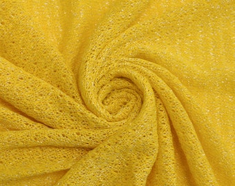 Bright and bold yellow sweater knit fabric Bold Yellow Sweater Knit Fabric by the yard -  Style 6161