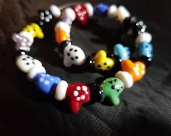 Mittens! Set of 20 ~ Handmade Lampwork Beads!