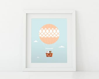 Darby + Dot™ - Hot Air Balloon Adventure - Art Print