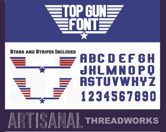 Top Gun Font SVG Cutting Files and Clip Art - Custom names jpg or png upon request- svg