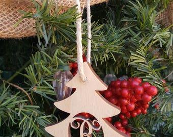 Adornos de madera - ornamento inicial - ornamento - ornamento del árbol de Navidad - Navidad rústica