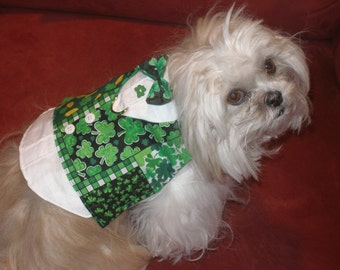 LUCK Of The IRISH - St Paddy's Day Harness Vest-Choose Fabric