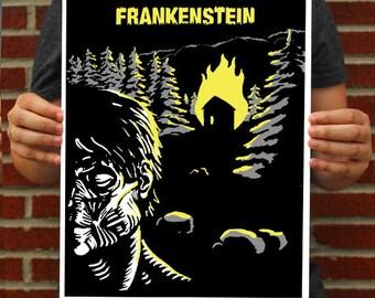 Frankenstein Poster // Mary Shelley Art Print