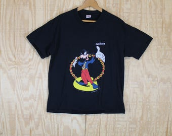 Vintage 1990's Goofy California Disney Cotton T-Shirt  T Shirt Sherry's Best Large L XL