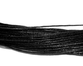 set of 10 m of black waxed cord 0.5 mm
