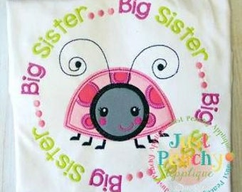 Big Sister Circle saying Machine Embroidery Applique Design