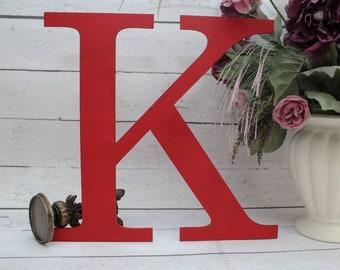 Boy Nursery Monogram, Large Capital Letter, Wooden Letter, Home Decor, Housewarming Gift, Wall Letter, Nursery Wooden Letter, Serif Font