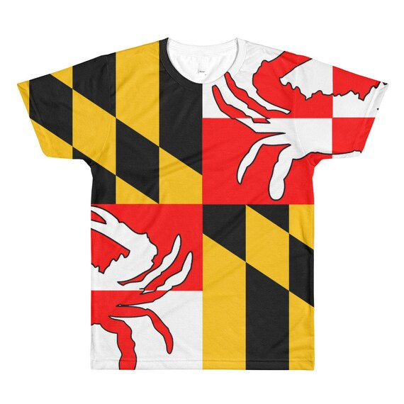 Maryland Flag All-Over Printed T-Shirt In520FoBB