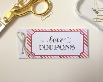 love COUPON BOOK - instant download