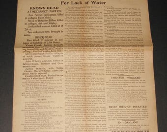 Vintage San Francisco DAILY NEWS 1947 Macy's Opening Commemorative Reprint of April 18 1906 Post-Earthquake Issue