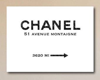 Chanel 51 Avenue Montaigne Quilted Edition - Canvas Print
