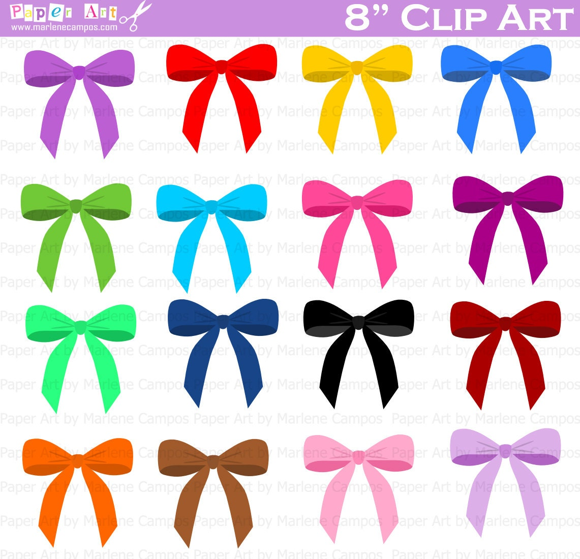 bows clip art digital clipart birthday party clip art rh etsy com clipart bows and ribbons clipart bows and ribbons