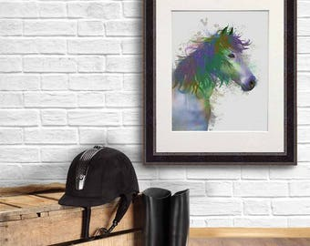 Magical art - Horse portrait 1 Print  - Fantasy painting Magical wall decor Fantasy poster Large animal art Boho chic Bohemian wall decor