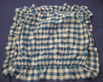 Ruched Indigo and White Pillow Cover