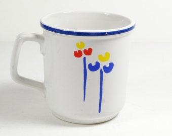 Riva Designs Tulip Mug - Tulips Primary Color Coffee Mug - Vintage Mug