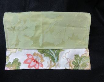 "Lightweight Upholstery Green Floral Clutch | 12 1/8"" L x 8 1/8"" H"