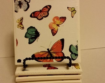 Butterflies set of 4 ceramic coasters