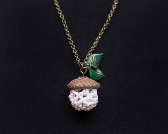 Acorn Necklace- Real Acorn Cap Necklace- Forest Fairy Necklace- Acorn Jewelry- Woodland Fairy Necklace- Fairy Jewelry- Acorn Pendant