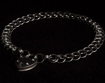 Stainless Steel Chainmail Collar/Necklace, Half Persian weave (10mm rings)