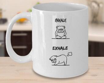 Funny Yoga Dog Mug For Women |  Funny Pug Mug |  Funny Dog Mug | Funny Mug Gift  | Gift For Friend |  Funny Dog Mug |  Funny Gift Idea |