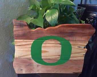 Oregon Ducks    Handmade cutout - Reclaimed wood   State Oregon    Rustic