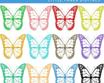60% OFF SALE Butterfly Digital Clip Art - Personal and Commercial Use - Instant Download - C37