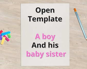 Digital book - Preparing a child for the arrival of a baby sibling, Powerpoint format, Personalized book, Make your own book, Family book