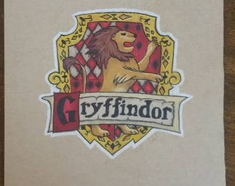 Original Drawing - Gryffindor House Crest