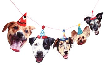 Mutts Dog Birthday Garland - party decoration for mixed-dog lovers