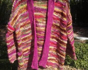 Bamboo yarn sweater jacket