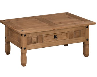 Corona Coffee Table Solid Pine