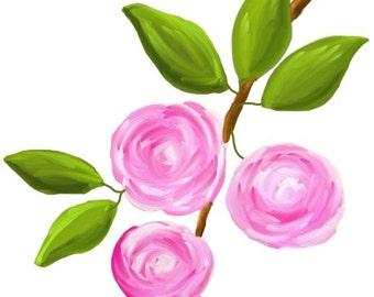 Rose Clip art, clipart fleur aquarelle, aquarelle rose clipart, invitation clipart, clipart rose rose, tout usage commercial, des cliparts numérique