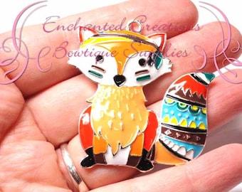 2» renard d'amérindiennes gros pendentif, porte-clé, marque-page, fermeture à glissière de tirer, Chunky bijoux, bijoux animaux, ce que fait le renard dire