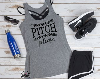 Pitch Please Baseball Shirt. Softball Mom. Baseball Mom. Workout Tank. Mom Life. Funny Baseball. Love Baseball. Baseball Obsessed. Game On.
