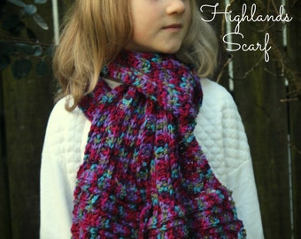 CROCHET PATTERN Highlands Scarf - Pattern PDF