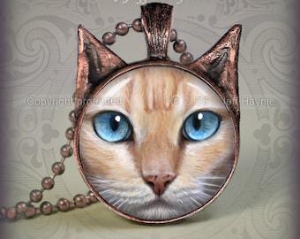 FP3 FLAMEPOINT Siamese Cat pendant