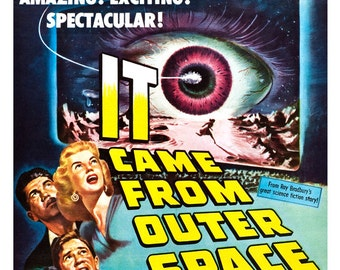 "It Came From Outer Space - Sci Fi Movie Poster Print  13""x19"" - Vintage Movie Poster - 50s kitsch - b movie"